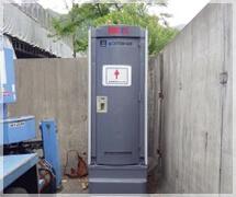 女性専用の仮設トイレを設置