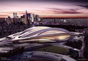 オリンピックに希望を新国立競技場